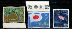 Ryukyu Islands SC# 205-7 various  MNH