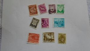 ISRAEL STAMPS MIXED CONDITION. LOT OF 10 STAMPS ( 6