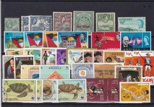 antigua and aguilla stamps ref r12593