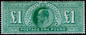 SG266, £1 dull blue-green, M MINT. Cat £2000.