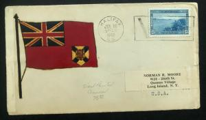 1942 Halifax Canada Patriotic Censored Cover Hand Painted Victory To USA