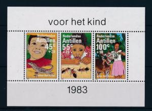 [NA753] Antilles Antillen 1983 Children with Donkey Lizard Ant Souv. Sheet MNH