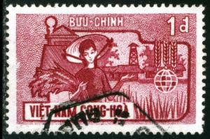 Vietnam - SC #208, USED,1963 - Item VIETNAM100NS5