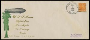 USS MACON TIED L.A., CAL USCS #145 BLUE,GREEN,GOLD DUMONTE CHT ON #10 CVR BQ2793
