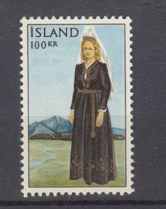 J29753, 1965-6 iceland mh #379 costume woman