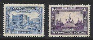 Newfoundland #168 and #169 OG Excellent Stamps!!