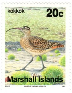 Marshall Islands Scott 351 (1990-1992: Bristle-thighed Curlew - Bird)