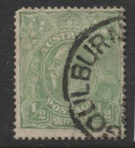 Australia - Scott 19 - KGV Head -1914 - Used - Wmk  9- 1/2p Stamp