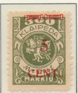 Memel Stamp Scott #N56, Unused, No Gum - Free U.S. Shipping, Free Worldwide S...