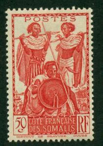 Somali Coast 1938 #158 MH SCV(2018)=$0.70