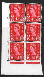 Sg XS14 4d Scotland No wmk 1CB Cyl 2 Dot perf A(E/I) UNMOUNTED MINT