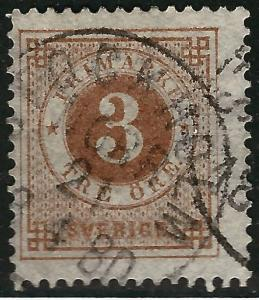 Sweden Attractive Sc #17 Used F-VF Cat $8.00