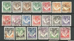 NORTHERN RHODESIA  1938-52  KGVI  PICTORIALS PART SET 20 M&U   SG 25/45