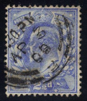 Great Britain #131 King Edward VII, used (11.50)