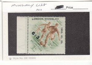 J25755  jlstamps 1954 hungary set of 1 mnh #c128 ovpt,s sports all checked