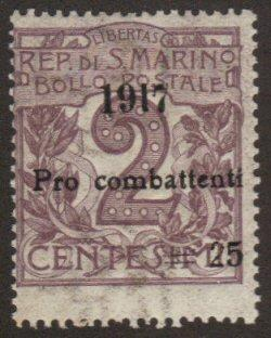 Italy #B1 used 1917 Pro combattenti