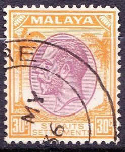 MALAYA STRAITS SETTLEMENTS 1936 KGV 30 Cents Dull Purple and Orange SG269 Used