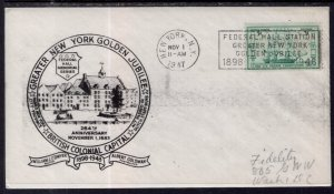 US British Colonial Capital Greater New York Golden Jubilee 1947 Cover