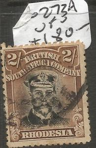 Rhodesia Admirals SG 273a VFU (6cnc)