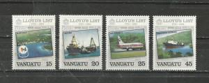 Vanuatu Scott catalogue # 368-371 Lloyd's List Mint NH See Desc