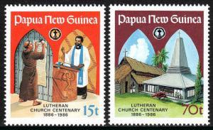 Papua New Guinea 649-650, MNH. Lutheran Church, centenary, 1986