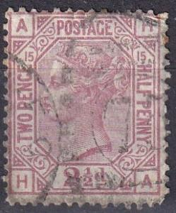 Great Britain #67 Plate 15 F-VF Used CV $60.00 Z42