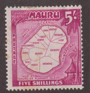 Nauru 47 Map of Nauru 1954