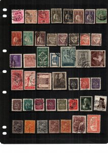 Portugal   hinged and used  lot of 42