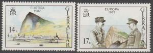 Gibraltar #435-6  MNH F-VF  (SU101L)