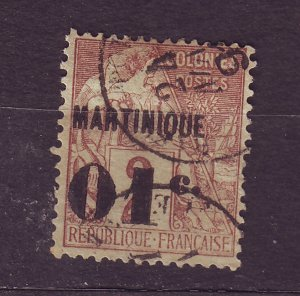 J23799 JLstamps 1886-91 french martinique #9 used ovpt