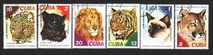 Cuba. 1977. 2257-62. Wild cats. USED.