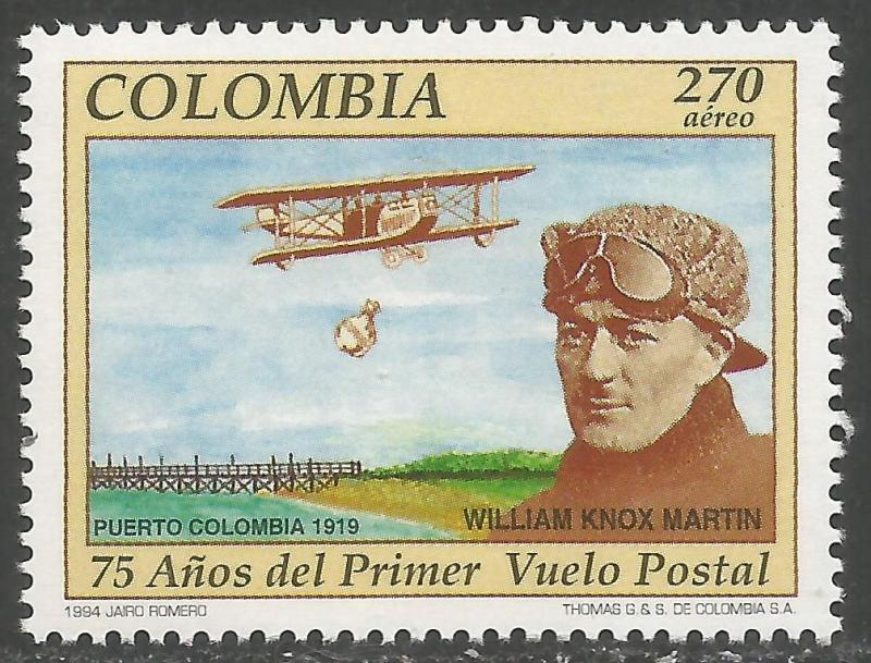 COLOMBIA C864 MNH AIRPLANE Z766