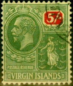 Virgin Islands 1922 5s Green & Red-Pale Yellow SG85 V.F.U