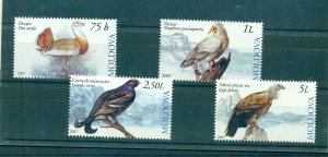 Moldova - Sc# 564-7. 2007 Birds. MNH $3.25.
