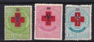 Thailand 1953, Red Cross MNH - gum disturbance # B35-B37
