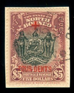 MOMEN: NORTH BORNEO SG #251 1918 USED LOT #60133