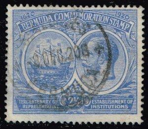 UK STAMP BERMUDA 1920-21 300th Anniversary of Local Representative USED $13