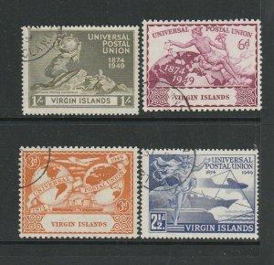 Br Virgin islands 1949 UPU FU SG 126/9
