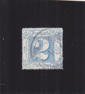 Thurn & Taxis: Sc #25, Rouletted, Used (S18319)