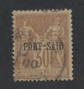 FRENCH OFFICES - PORT SAID SC# 10 F-VF U 1899