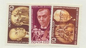 Russia Scott #3906 To 3908, Playwrights and Scenes From Their Plays Issue Fro...