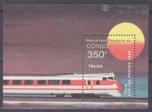 1991 Congo Brazzaville 1218/B54 Locomotives 6,50 €