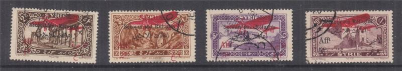 SYRIA, 1926 War Refugees Fund, Air set of 4, used.