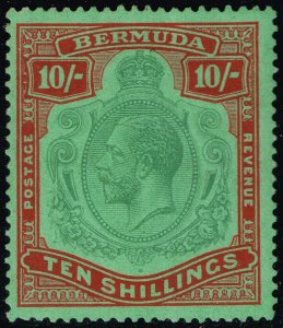 Bermuda #96a King George V; Unused (3Stars)