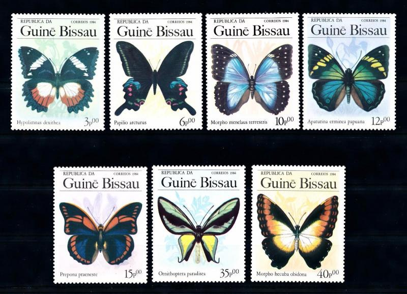 [70799] Guinea Bissau 1984 Insects Butterflies  MNH