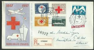 NETHERLANDS 1957 Red Cross registered FDC..................................58515