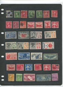 STAMP STATION PERTH USA Early Selection of 37 Stamps Unchecked Mint /Used-Lot 37