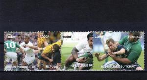 Chad 2011 Rugby World Cup Set  (4) Perf.MNH VF