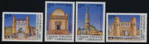 Uzbekistan 146-9 MNH Architecture, Silk Road, Tombs