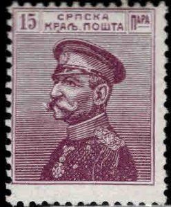 Serbia  Scott 114 MH* Red  Violet stamp